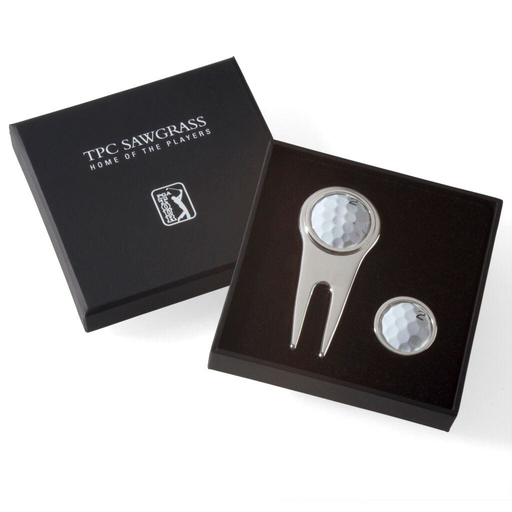 Tokens & Icons TPC Sawgrass Golf Ball Divot Tool Ball Marker Set
