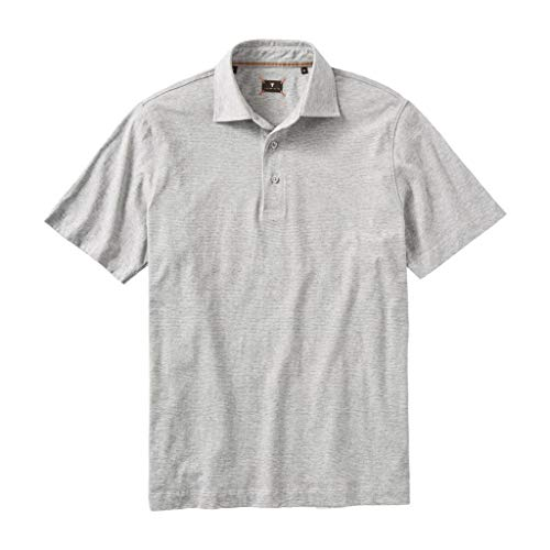 Left Coast Tee Mens Short Sleeve Hairline Stripe Pima Cotton Polo Tee Shirt