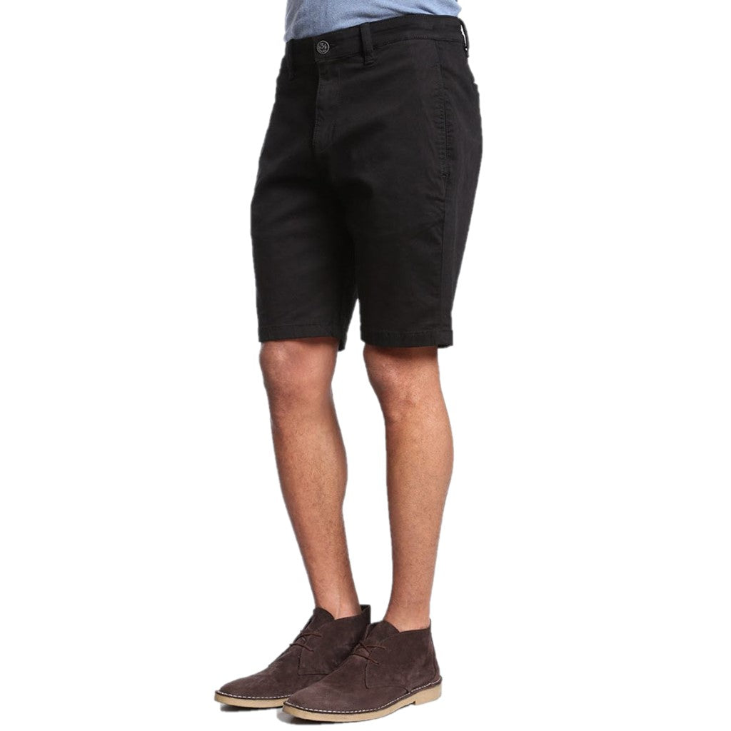 34 Heritage Men's Nevada Black Twill Chino Stretch Cotton Shorts