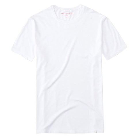 Derek Rose Men's White Short Sleeve T-Shirt