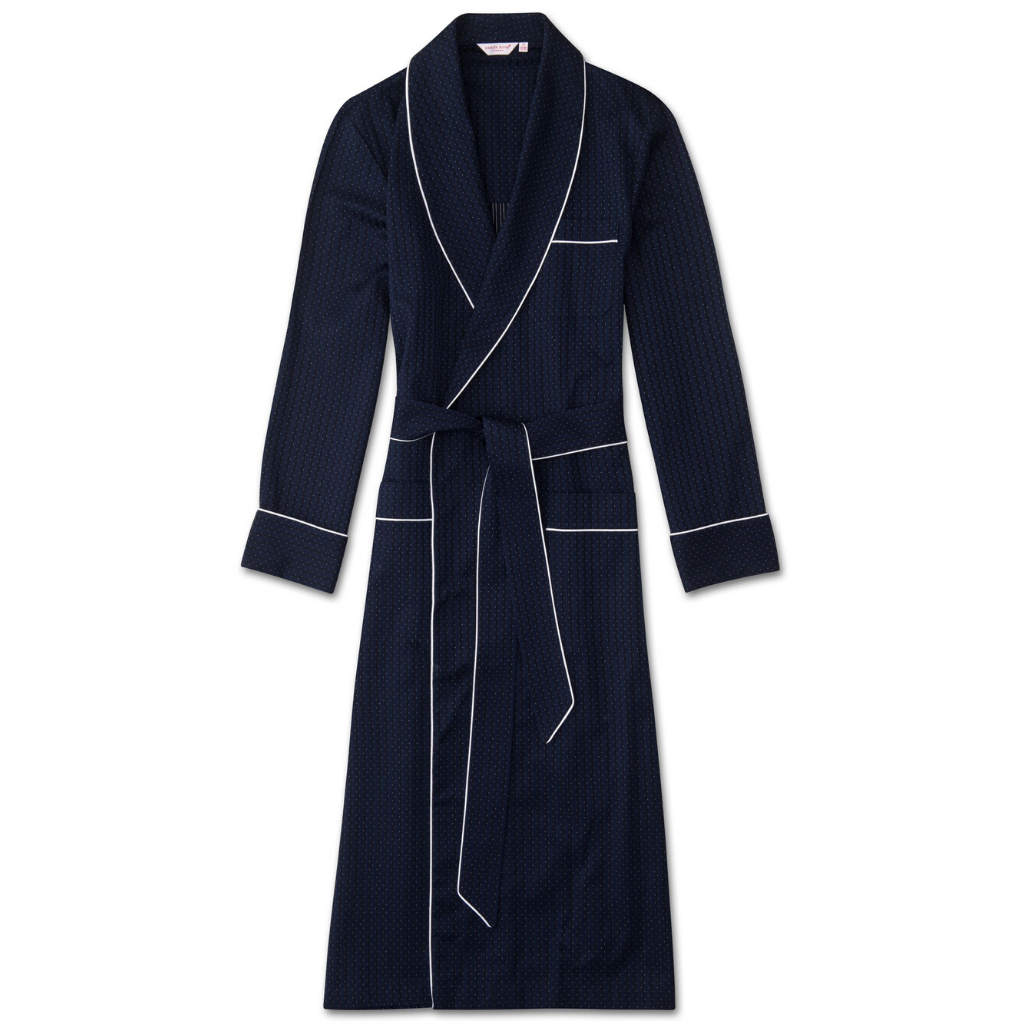 Derek Rose Men's Royal Piped Pure Cotton Robe