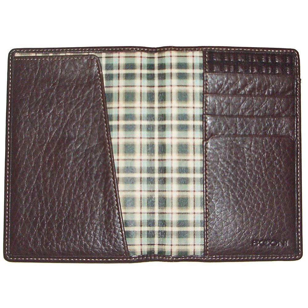 Boconi Tyler Tumbled Leather Passport Case Wallet Style #111