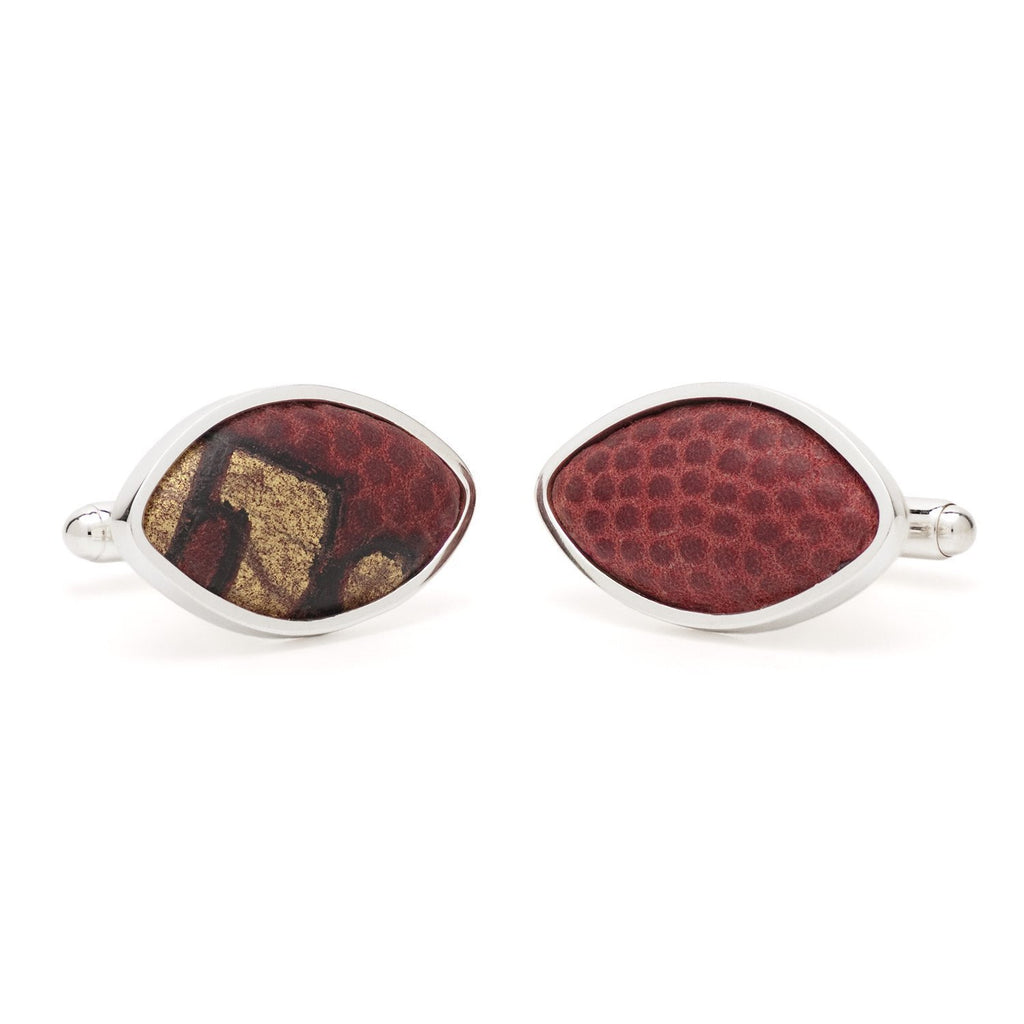 Tokens & Icons Collegiate Game Used Football Cufflinks (5-COLLEGIATE-P)