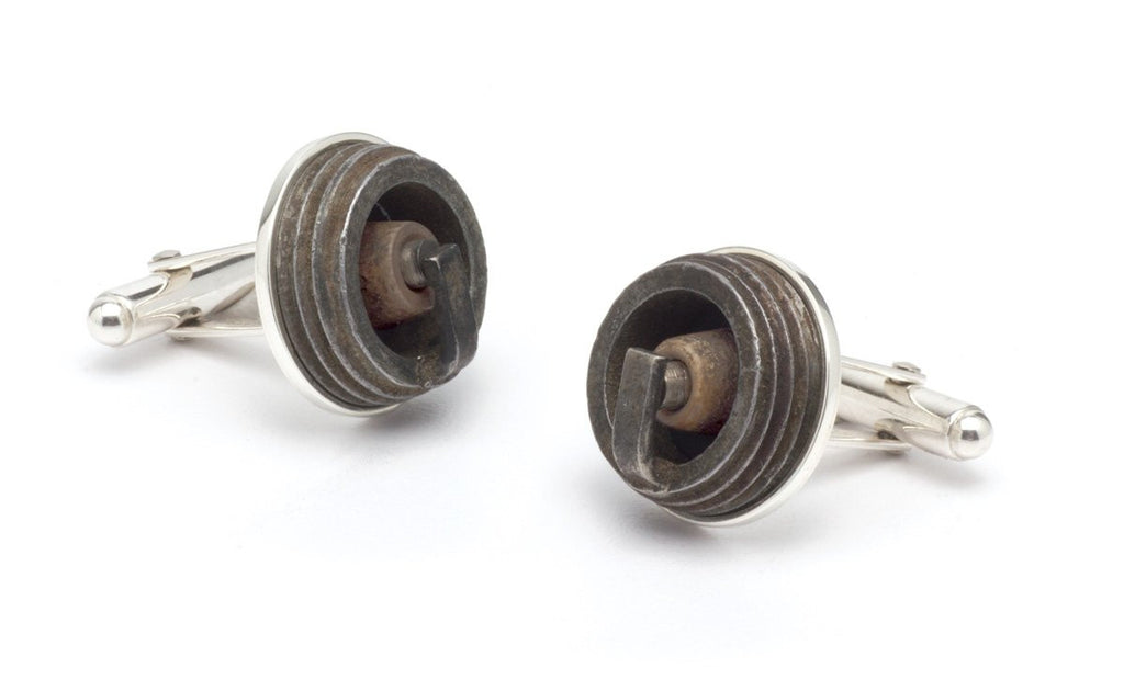 Tokens & Icons Cufflinks - Spark Plug (12SP)