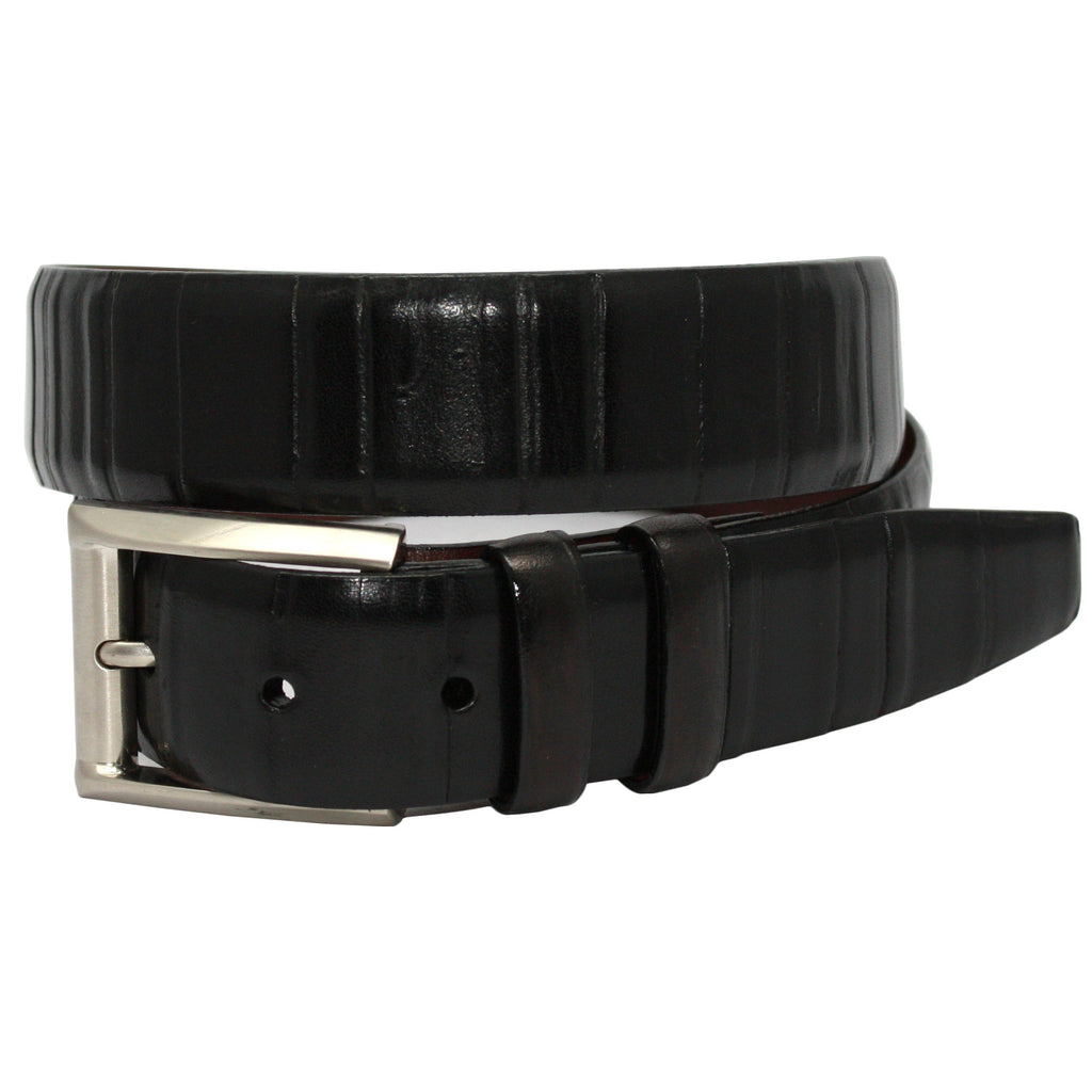 Torino Leather Italian Ribbed Calfskin Belt