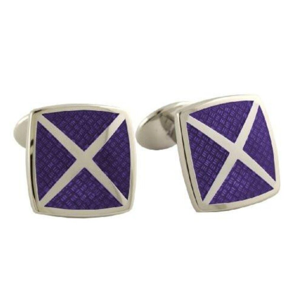 David Donahue Sterling Silver 4 Cavity Cufflinks