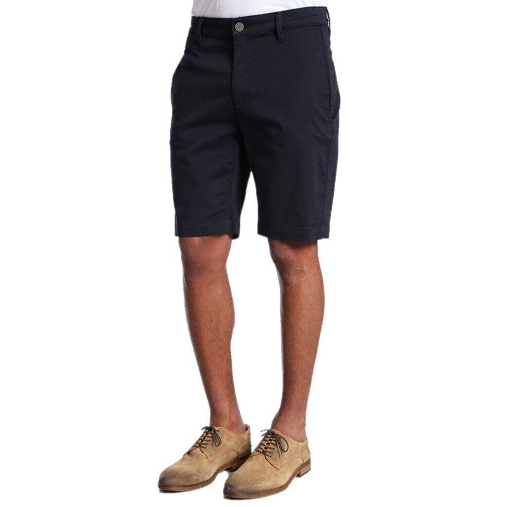 34 Heritage Men's Nevada Navy Blue Twill Chino Stretch Cotton Shorts