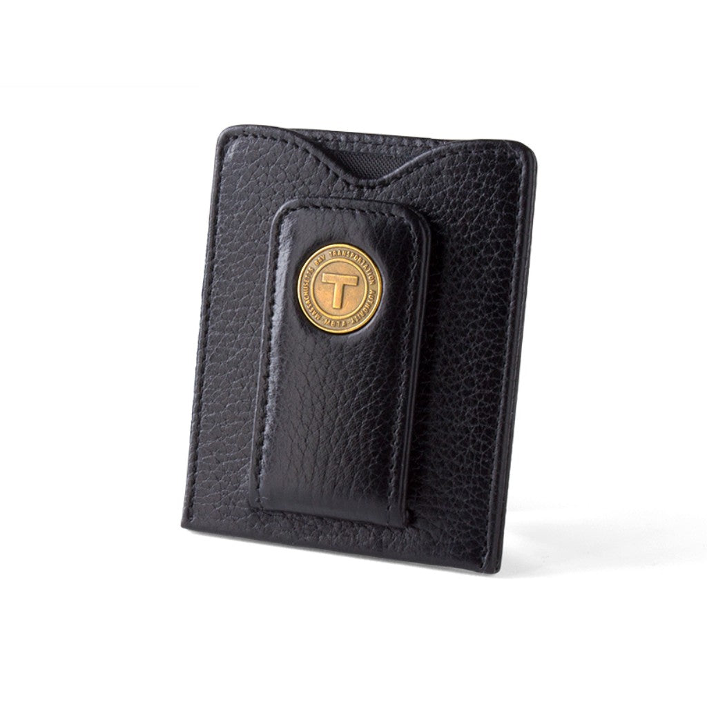Tokens & Icons Boston Transit Token Leather Money Clip Wallet