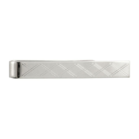 David Donahue Men's Sterling Silver Slide On Modern Tie Bar (TB322002)