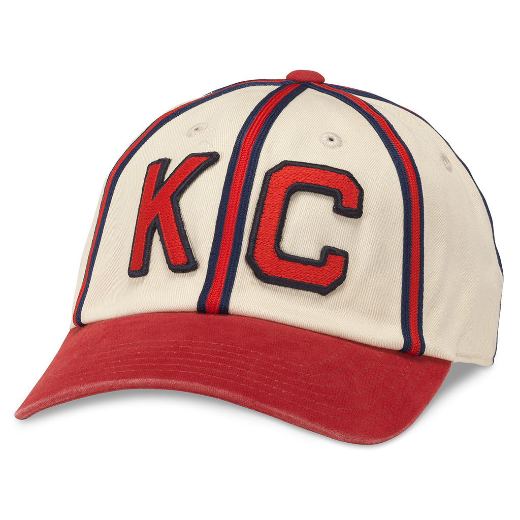 American Needle Archive Negro League Kansas City Monarchs Baseball Dad Hat (44747B-KCM-IDRD)