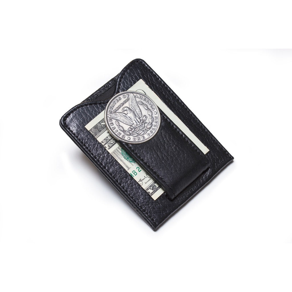 Tokens & Icons Men's 1800's Morgan Silver Dollar Money Clip Wallet