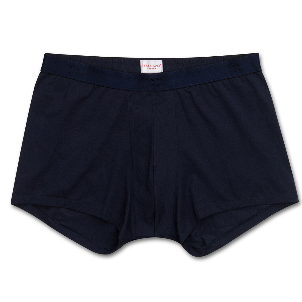 Derek Rose Men's Pima Cotton Stretch Hipster Underwear (Navy)