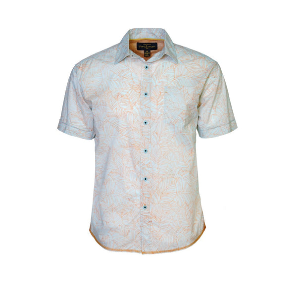 Pete Huntington Mens Premium Short Sleeve Woven Cotton Dress Shirt (PH505TM)