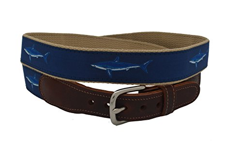 Epic Mens Mako Shark Ribbon Belt