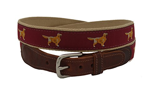 Epic Mens Golden Retriever Ribbon Belt