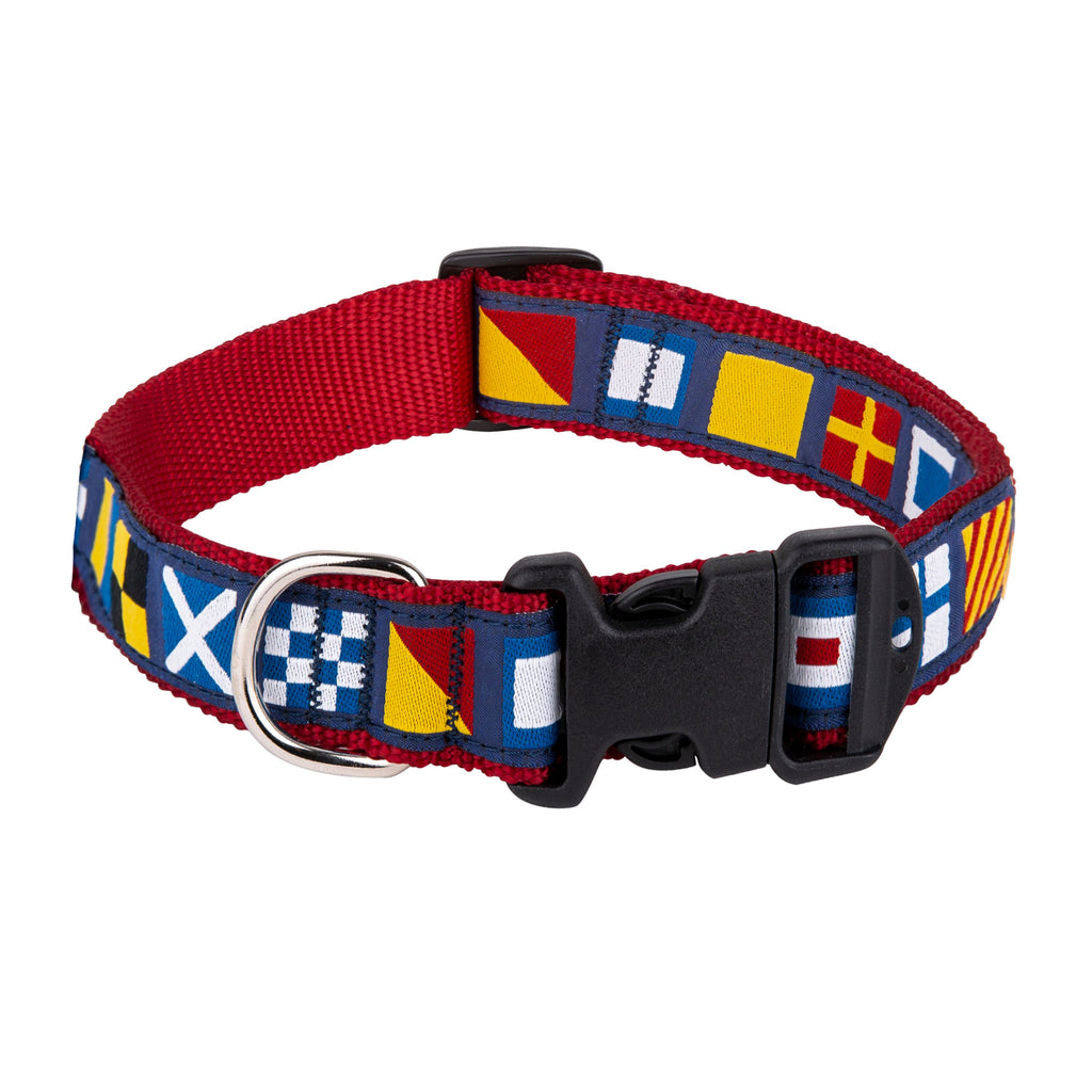 Sadie & Buck Adjustable Novel Pattern Ribbon Pet Collar