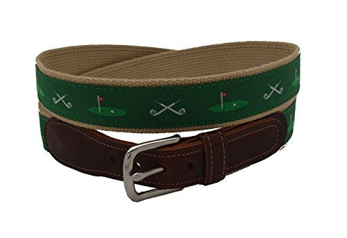 Epic Mens Golf Clubs 18th Hole Ribbon Belt