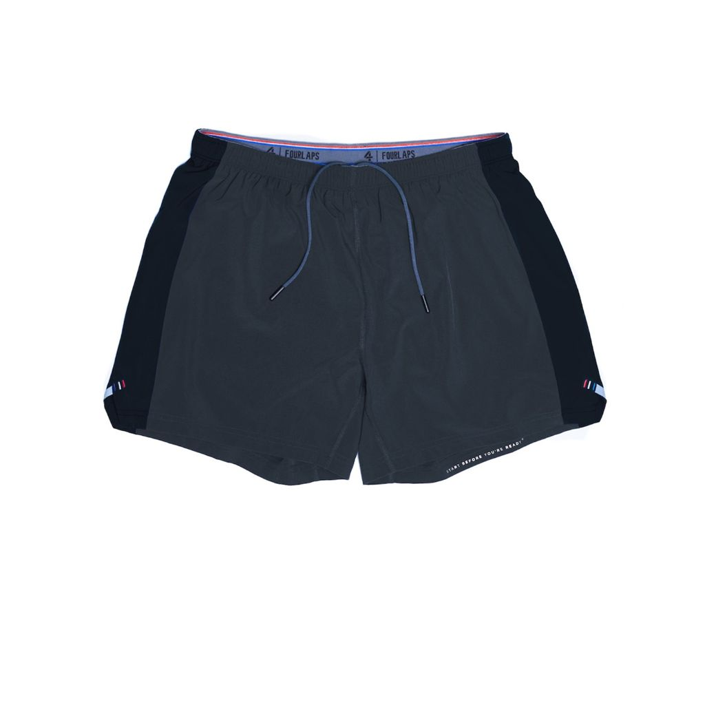 "Fourlaps Athletic Fit Extend 5"" Inseam Men's Work Out Shorts"