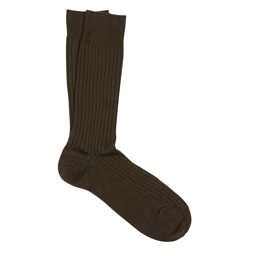 Marcoliani Milano Ribbed Dress Sock Extrafine Merino Mid Calf