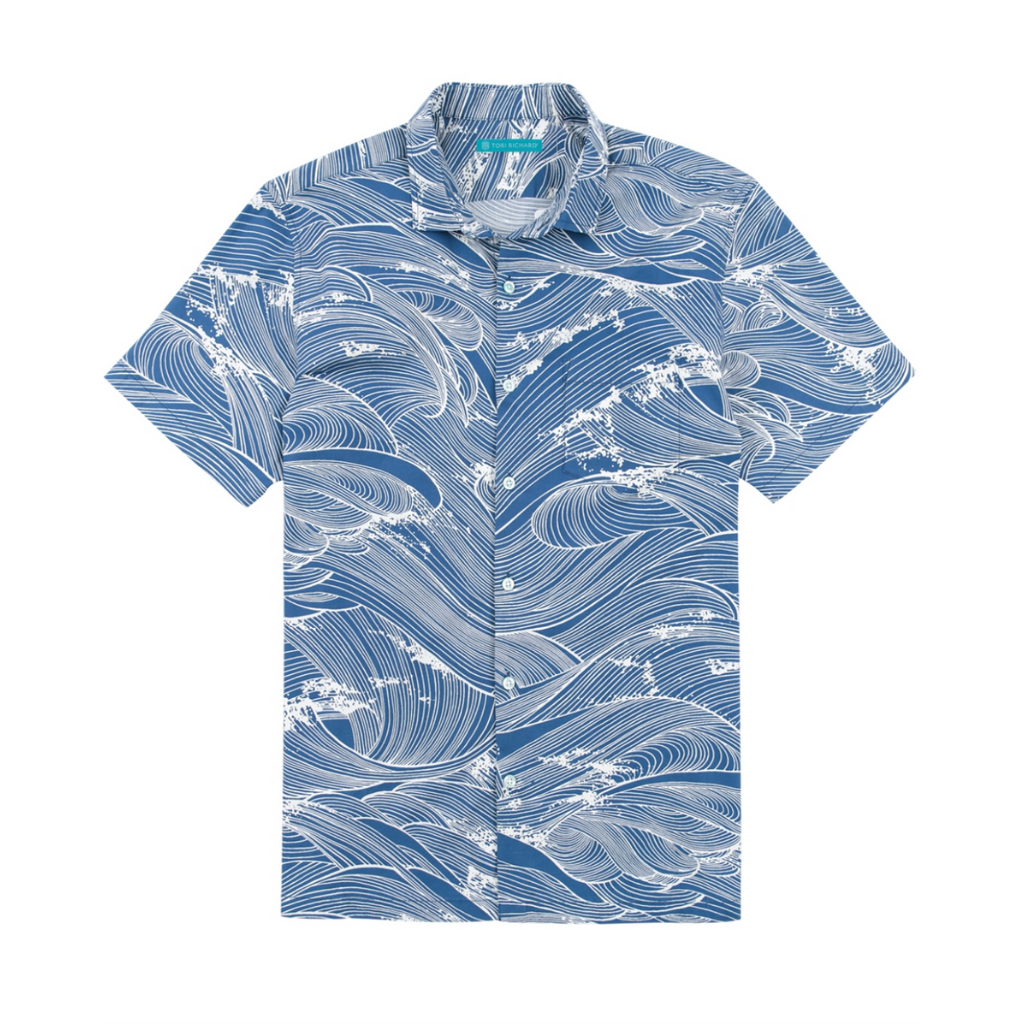 Tori Richard Ocean's 11 Aloha Print Mens Regular Fit Short Sleeve Hawaiian Shirt