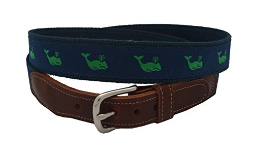 Epic Mens Green Whale Ribbon Belt