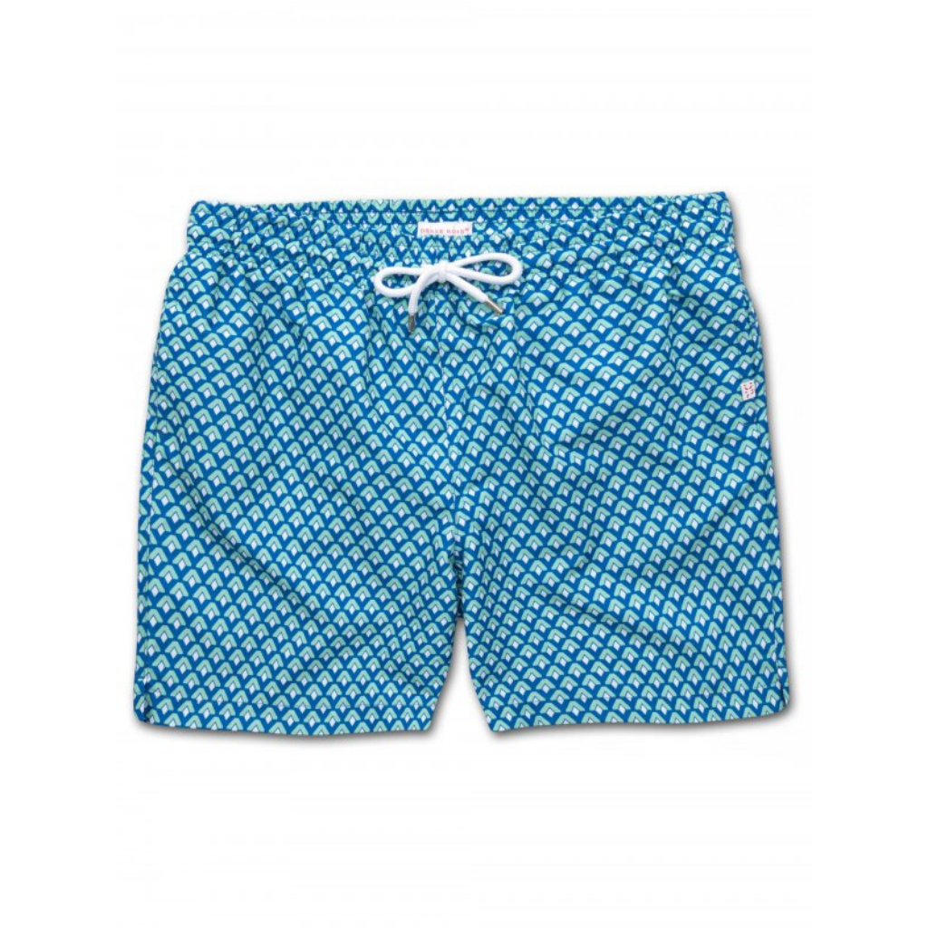 Derek Rose Mens Classic Fit Trunk Swim Shorts, Tropez 7 Multi