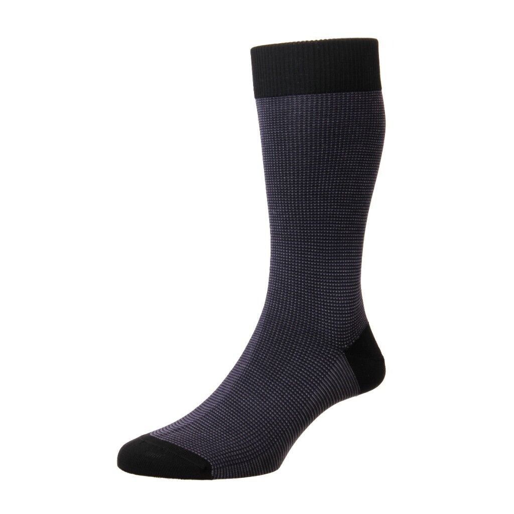 Pantherella Tewkesbury Cotton Blend Mid Calf Mens Dress Socks