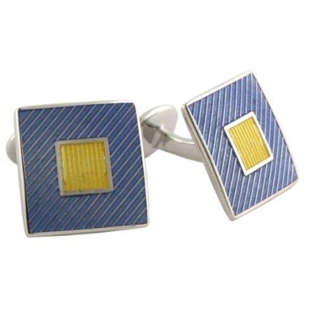 David Donahue Sterling Silver Squares Cufflinks