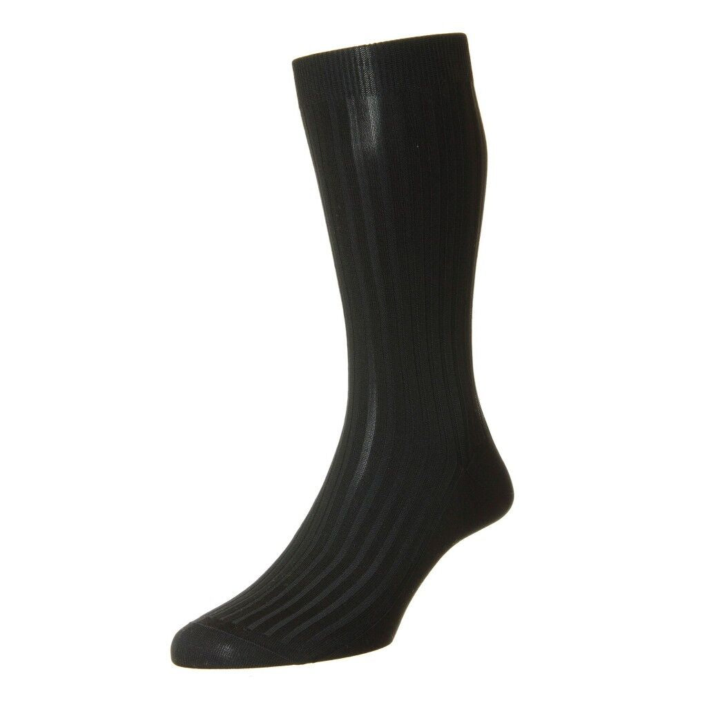 Pantherella Danvers Cotton Lisle Blend Over the Calf Mens Dress Socks