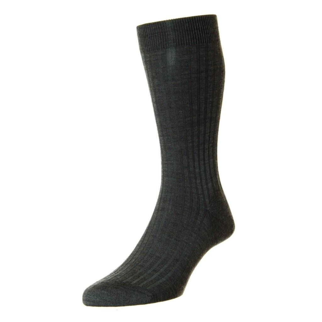 Pantherella Laburnum Merino Wool Blend Mid Calf Mens Dress Socks