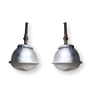 Pair of Vintage Industrial Pendant Lights-Belgium 1940