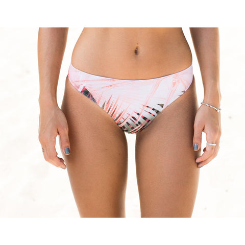 Nomad Cheeky Bikini Bottoms ~ Neon Palm Coral Print