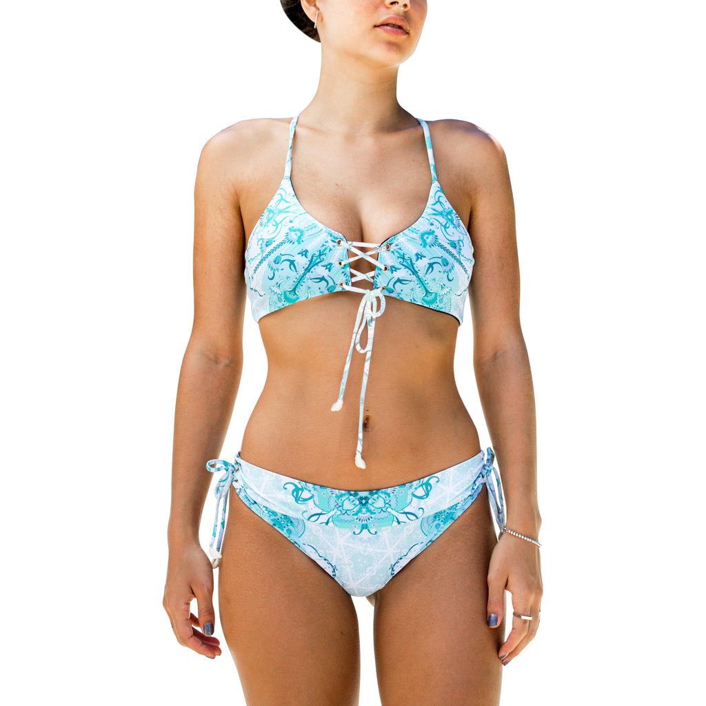 Sea Gypsy Bikini — Sea Floral Print
