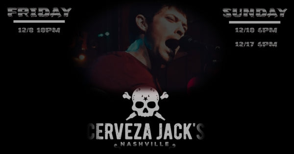 Sean Rivers to play three December shows at Cerveza Jack's