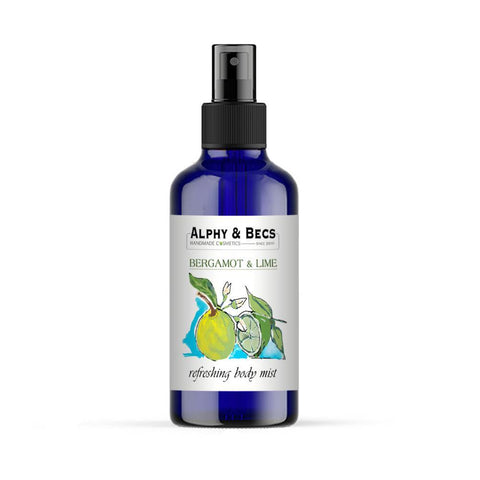 Alcohol Free Mist Body Spray - Bergamot & Lime - 100ml