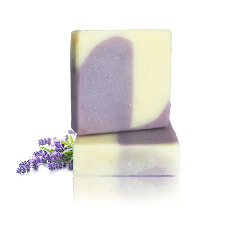 100% Natural Handmade Soap - Organic Lavender - With Cocoa Butter & Shea Butter