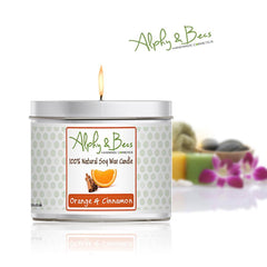 Eco-Soy Candle - Orange & Cinnamon - 200gr.
