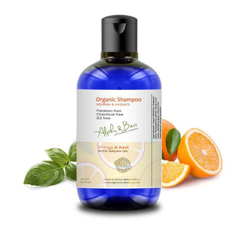 Organic Shampoo - Orange & Basil - 250ml
