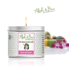 Eco-Soy Candle - Rose Geranium - 200gr.