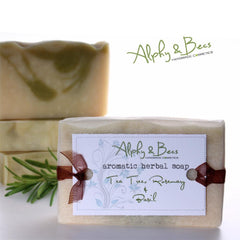 100% Natural Aromatic Herbal Soap - Tea Tree - Rosemary - Basil - Antibacterial