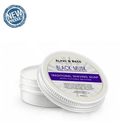Shaving Soap With Tucuma Butter - Black Musk - 100gm