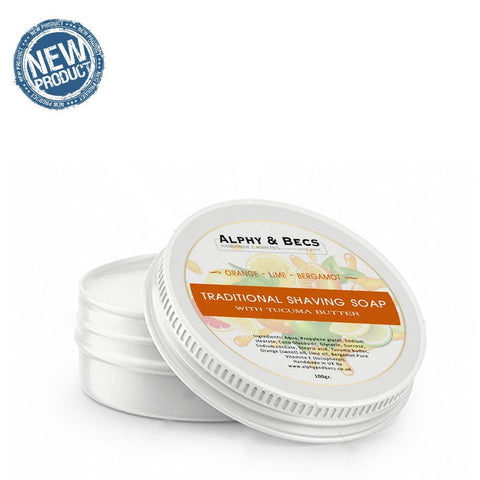 Shaving Soap With Tucuma Butter - Orange, Lime & Bergamot - 100gm