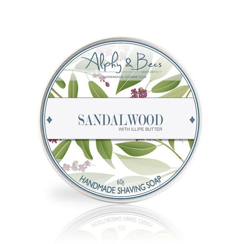 Sandalwood Shaving Soap With Illipe Butter - 60gr.
