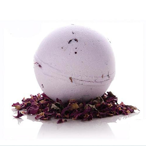 Floral Luxury Jumbo Bath Bomb - Rose - With Organic Rose Petals - 2 x 200gr.