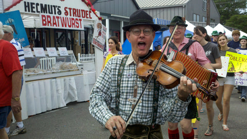 Polka Music- oompah music- street performers at Tomball German Festival