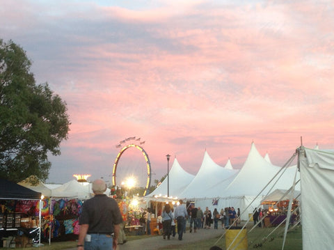 Tulsa Oktoberfest skyline beer tents and carnival