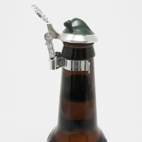 Bavarian Hat Beer Bottle Pewter Stein Lid Topper