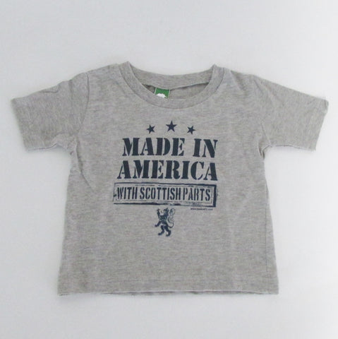 Made in America With Scottish Parts Shirt - Kids