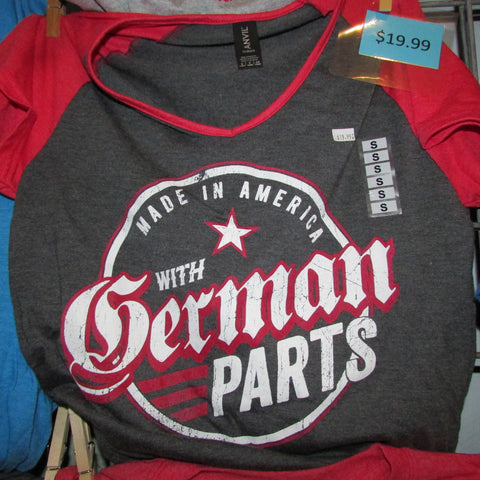 German Parts Emblem - LADIES - Black/Red