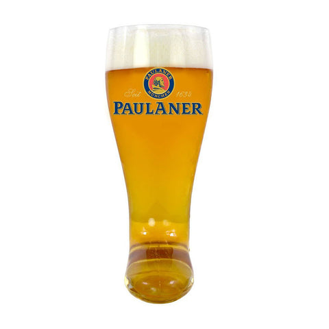 2L German Glass Beer Boot - Paulaner Beer